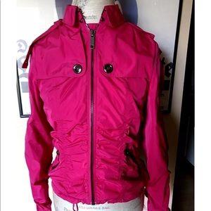 Burberry fuchsia pink jacket top size 6 new  coat